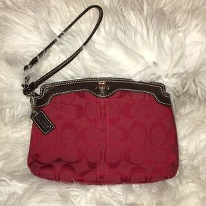Red Coach Handbag